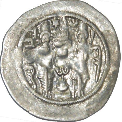 Dracma de Hormazd IV. Año 12 Ceca DA 382a10