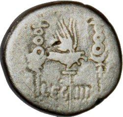 Denario Legionario de Marco Antonio.  LEG III. 38811