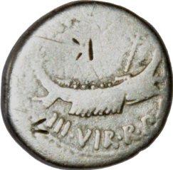 Denario Legionario de Marco Antonio.  LEG III. 388a11