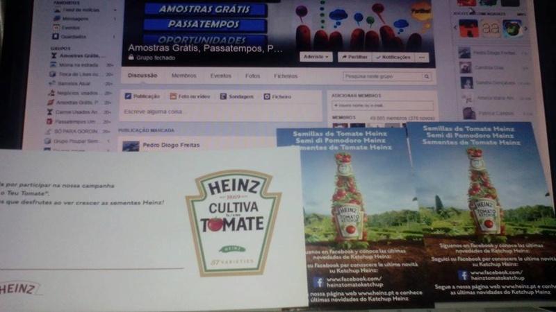 Amostras Heinz - Sementes de tomate 10348111