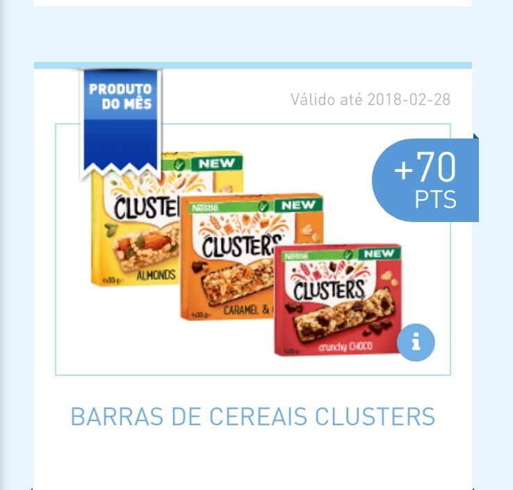 Amostras My Nestlé - Barras de cereais Clusters 1361e510