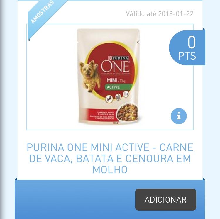Amostras My Nestlé - Purina One Mini Active 858f9d10