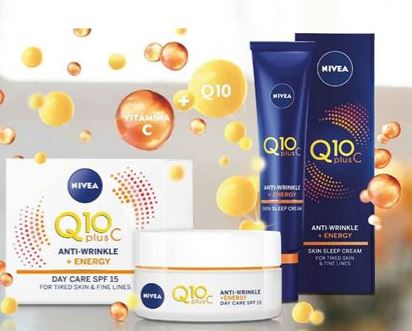 Amostras Nivea - Q10+Vitamina C Nivea10