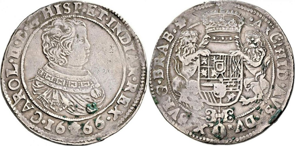 Carlos II de España, 1665-1700 Ducaton 1666, Amberes. 38878510
