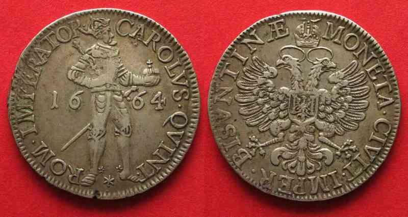 Thaler Besancon 1661 imagen Carlos V 6628110