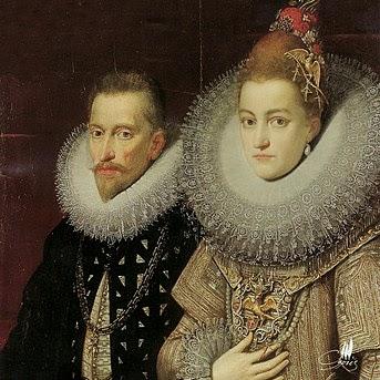 Patagón de los Archiduques Alberto e Isabel, ceca de Amberes (sin fecha). Albert10