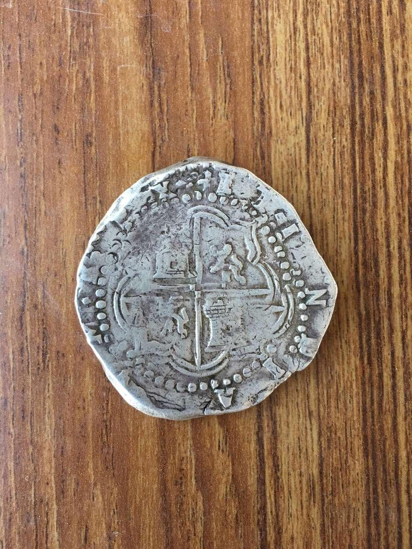 8 Reales macuquinos de Felipe II o III, Potosí Azwdl10