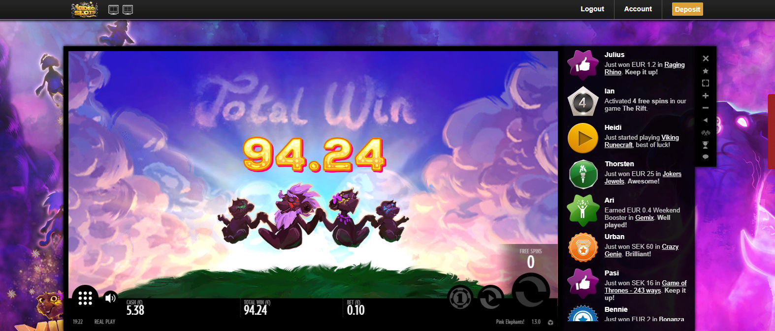 Screenshoty naszych wygranych (minimum 200zł - 50 euro) - kasyno - Page 8 Pink10