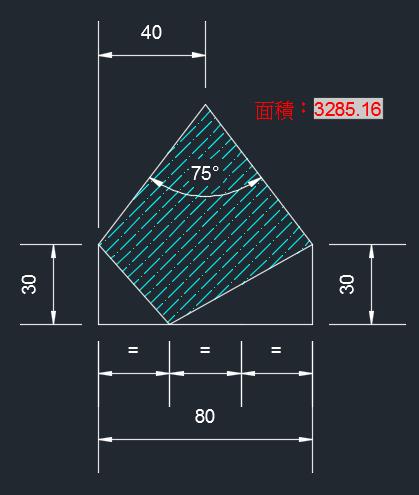 AutoCAD教學 幾何圖形習題06 2018-012