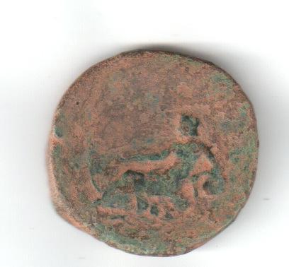 As de Marco Aurelio. IMP VII COS III / S C. Tiber Rirev10