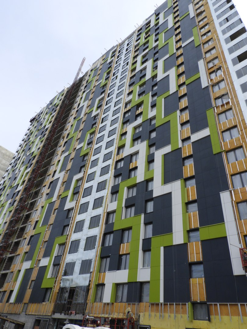 """На ЖК """"Летний сад"""" - начался монтаж фасадных конструкций! Теплозвукоизоляция под ними - лучше, чем у соседнего ЖК """"Город"""" - Страница 6 1223"""