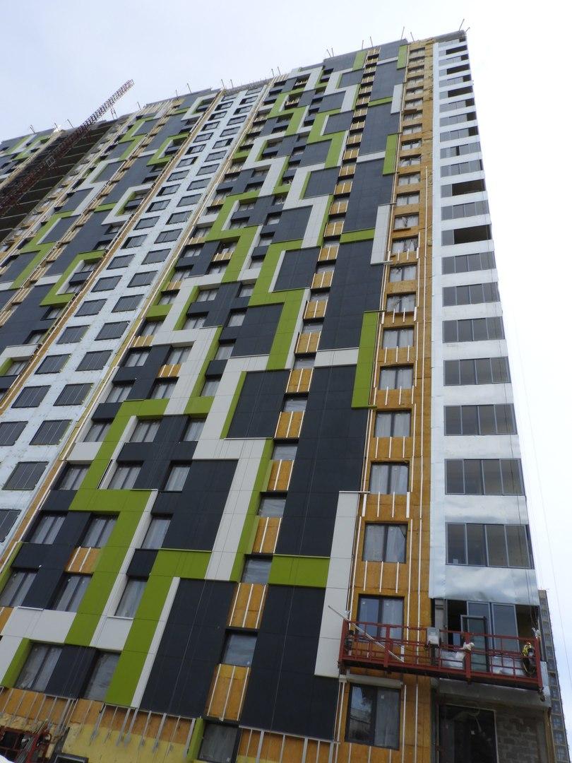 """На ЖК """"Летний сад"""" - начался монтаж фасадных конструкций! Теплозвукоизоляция под ними - лучше, чем у соседнего ЖК """"Город"""" - Страница 6 1317"""