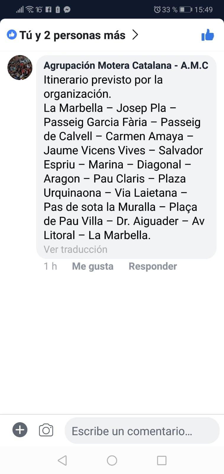 MANIFESTACIÓN MOTORISTAS (CAT): Barcelona 2 de Diciembre de 2018 11:30 7e75ce10