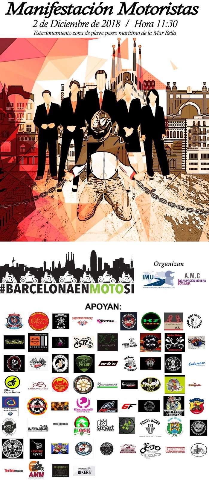 MANIFESTACIÓN MOTORISTAS (CAT): Barcelona 2 de Diciembre de 2018 11:30 Ba7f6010