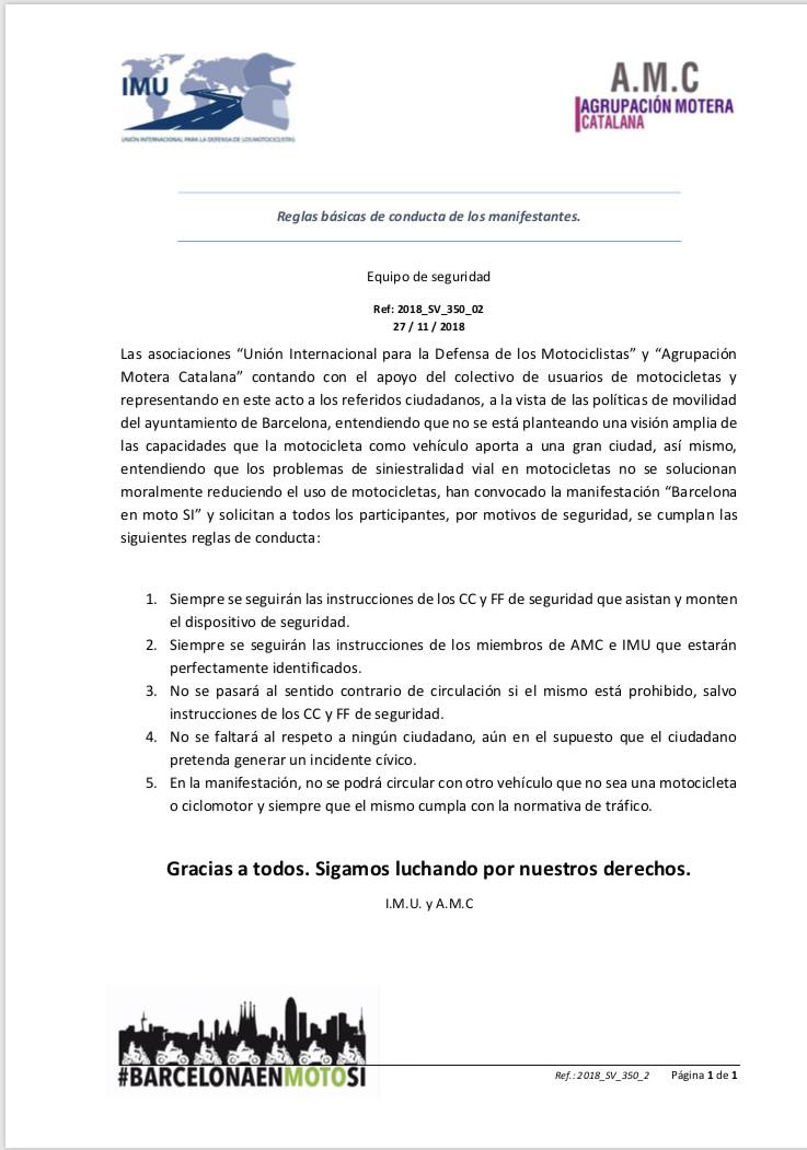 MANIFESTACIÓN MOTORISTAS (CAT): Barcelona 2 de Diciembre de 2018 11:30 E5cf4010