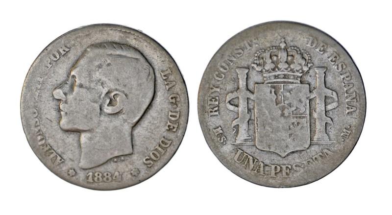 Peseta de 1884 Alfonso XII S-l16011
