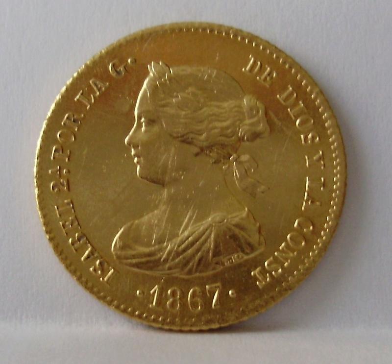 4 Escudos de Isabel II de 1867. Madrid. P6110012