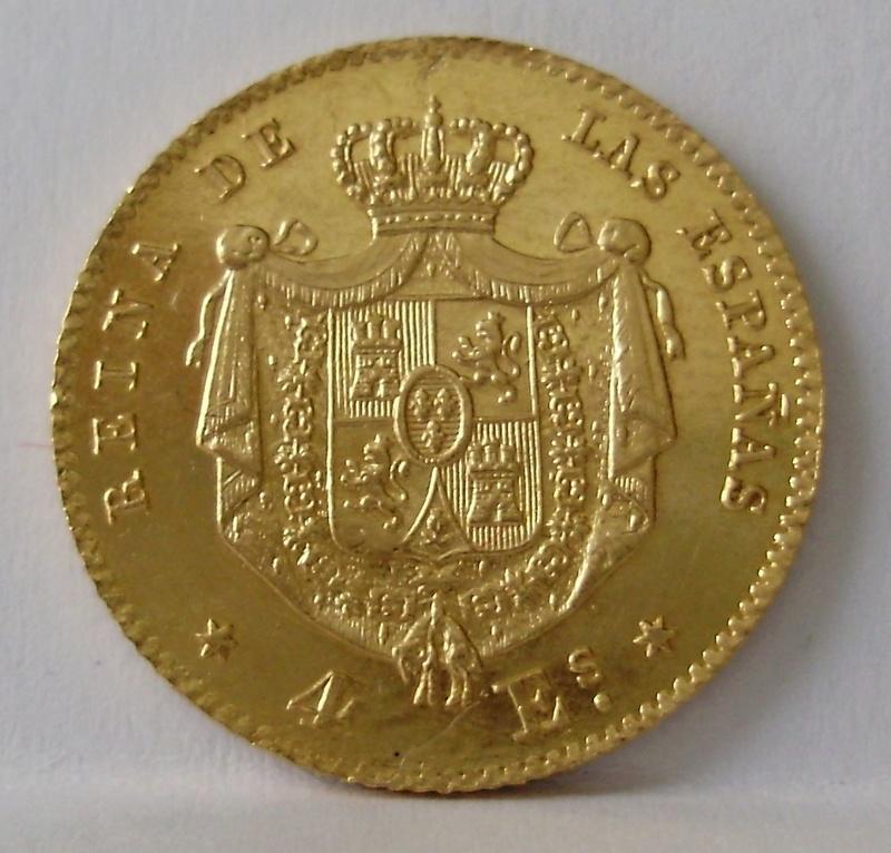 4 Escudos de Isabel II de 1867. Madrid. P6110013