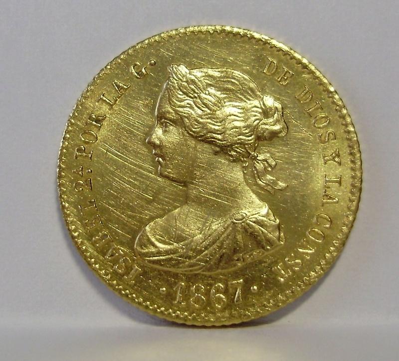 4 Escudos de Isabel II de 1867. Madrid. P6110014