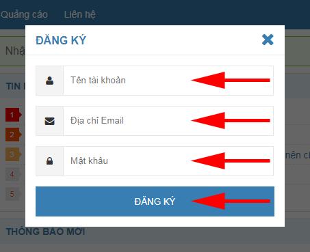 Hướng dẫn đăng ký tài khoản nhanh chóng chỉ trong 3 bước. Dk110