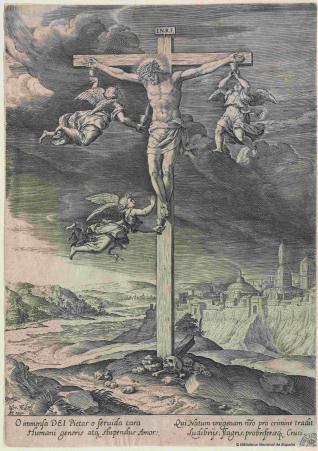 Santa María de Mariazel/ Crucifijo con ángeles, S. XVII (MAM) 76c72710