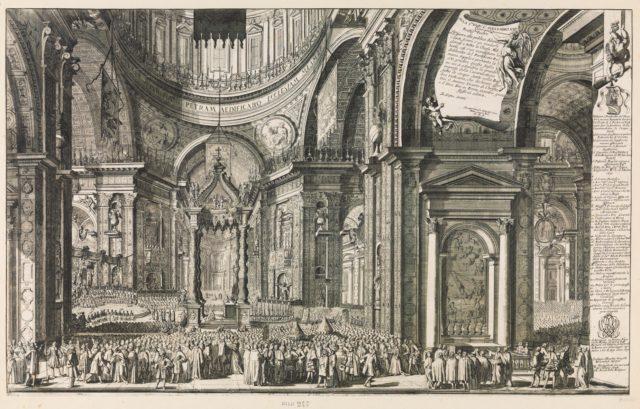 Canonización Cinco Santos 1690: S. Pascual Bailón, S. Juan de Sahagún, S. Juan de Capistrano, S. Lorenzo Justiniano y S. Juan de Dios, S. XVII. Canoni10