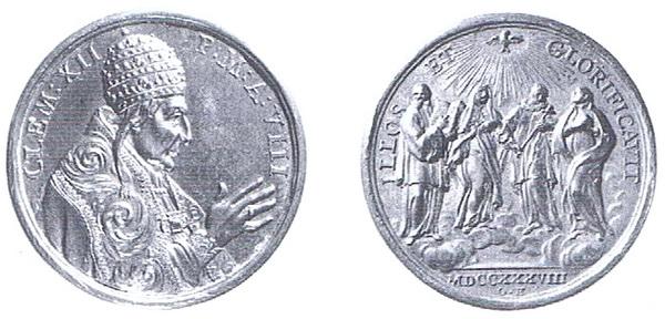 Cuatro Santos canonizados en 1737 - MR608 (R.M. SXVIII-C154) Clemen10