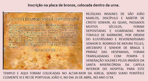 Medalla de San Juan Marcos  / S. Benito - s. XVIII Placa_10