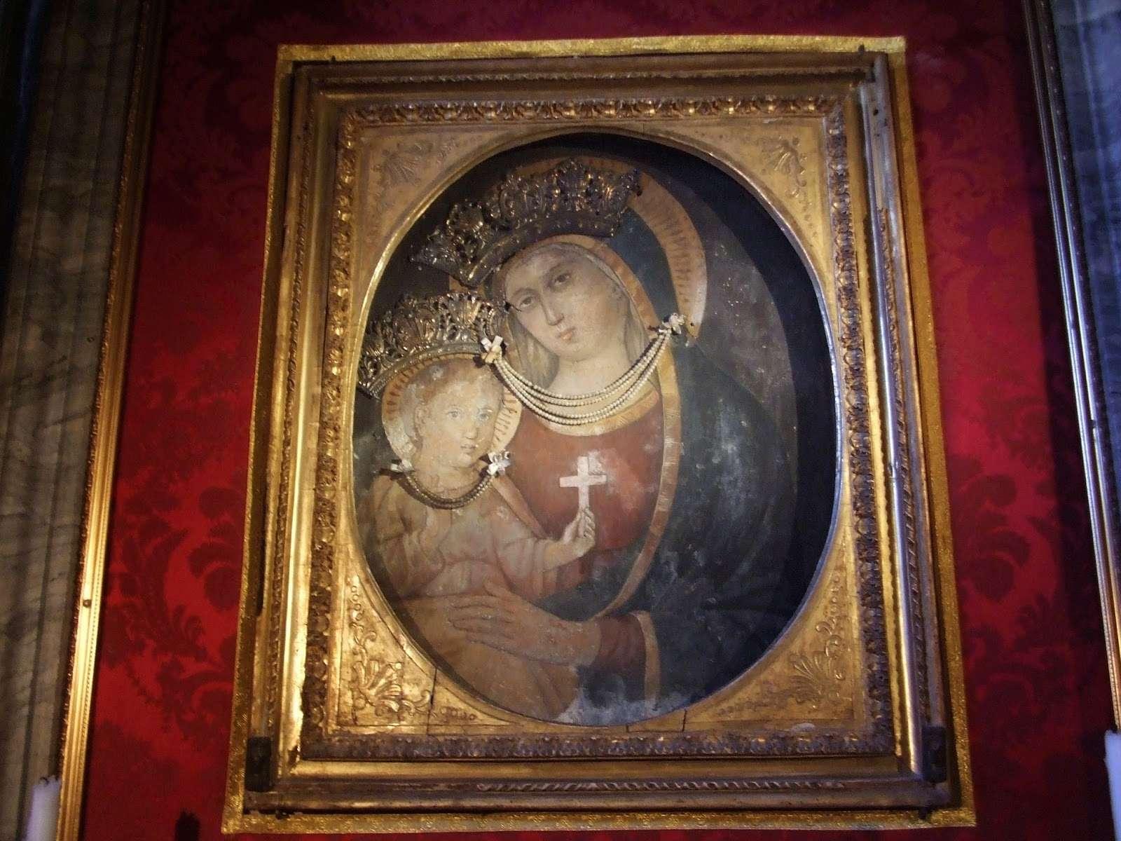 Virgen Misericordia de San Benito en Piscinula / Inscripción, S. XVIII Traste10