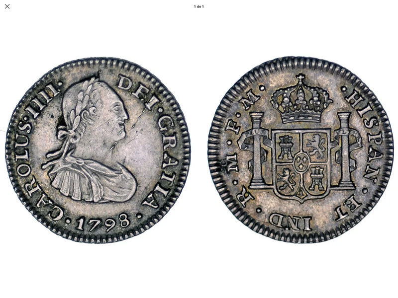 1/2 real 1798 FM Mexico. Carlos IV 02fc9910