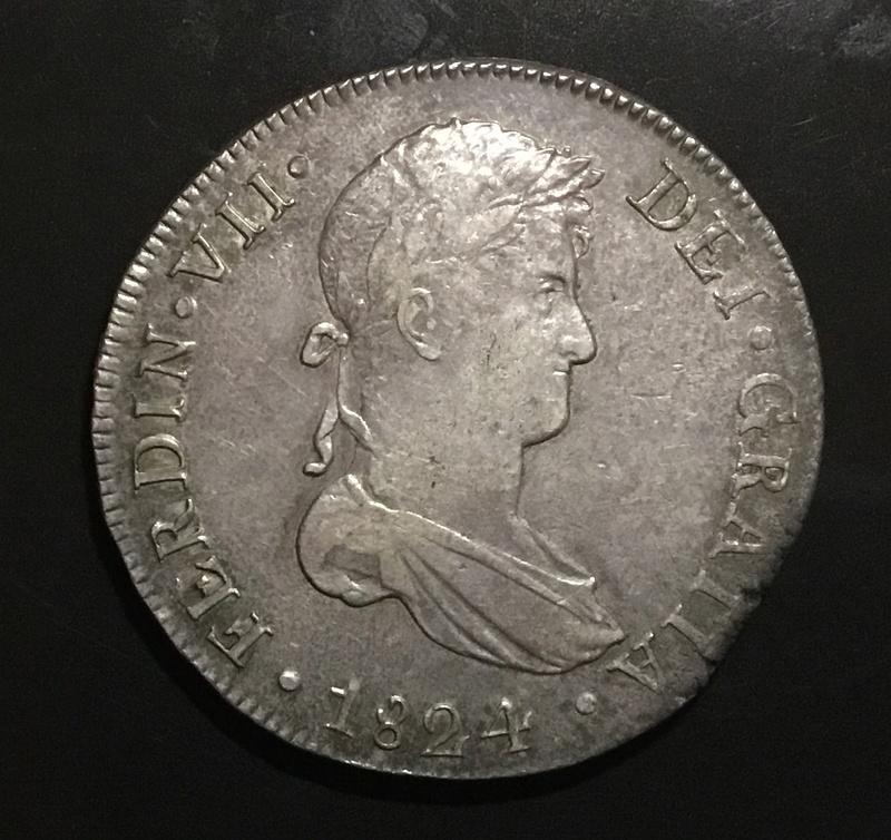 8 reales 1824 G Cuzco, Fernando VII 1853e510