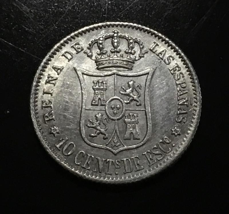1868 10 centavos de escudo 3b937c10