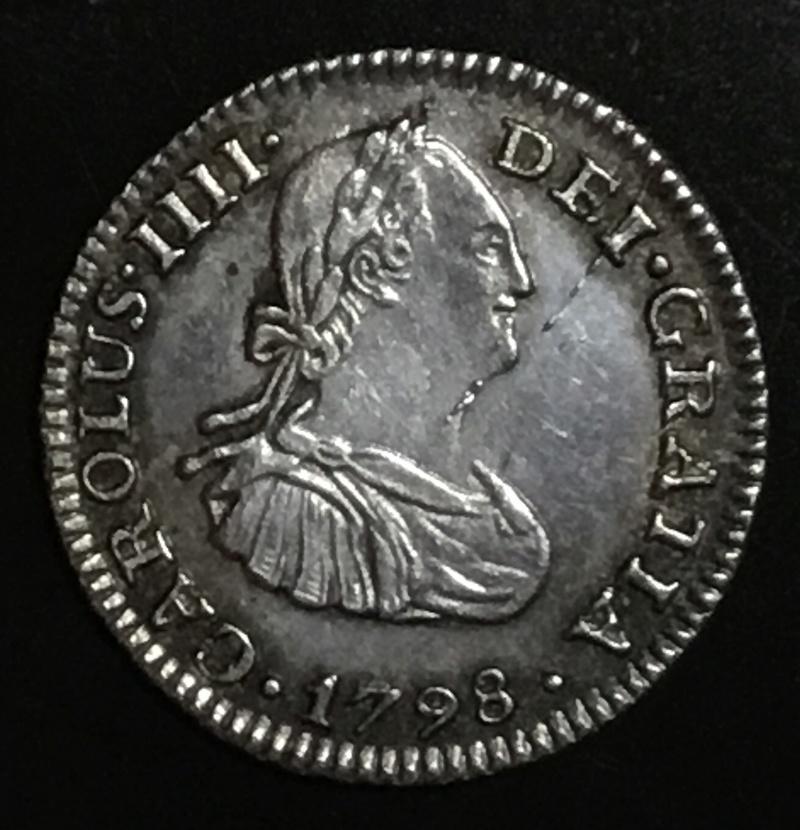 1/2 real 1798 FM Mexico. Carlos IV 9257fa10