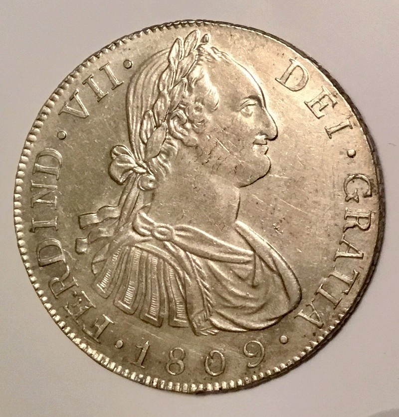 1809 Fernando VII. Guatemala M . 8 reales  C0af5910