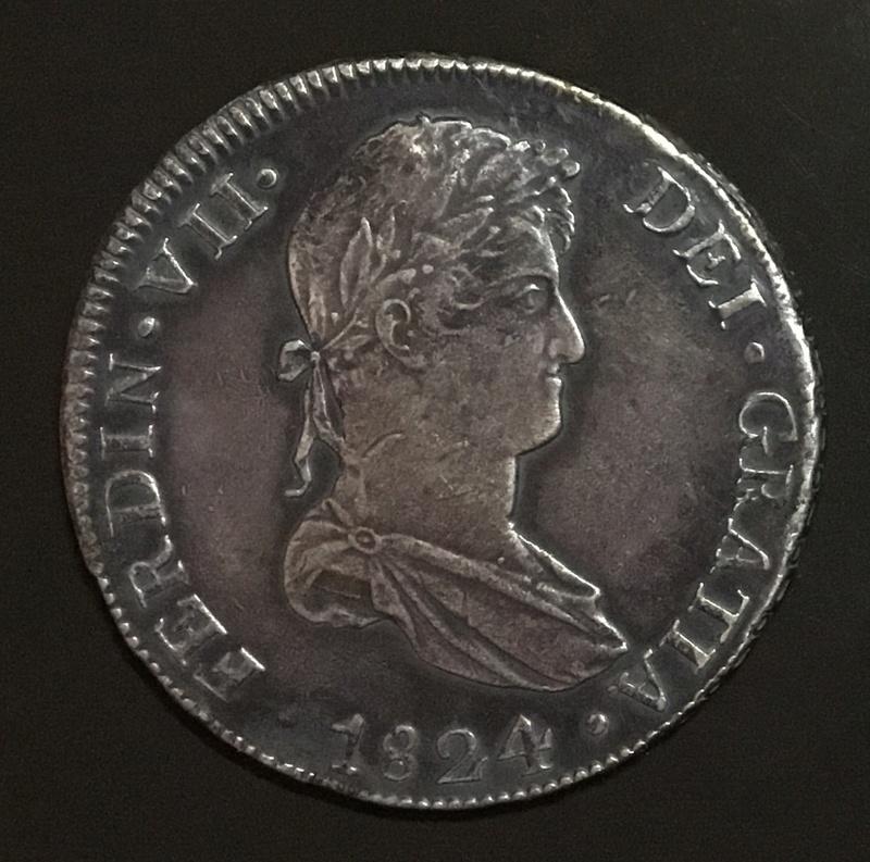 8 reales 1824 T Cuzco, Fernando VII Cef74d10