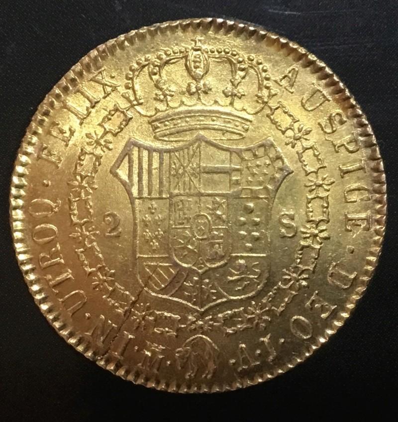 2 escudos 1832 AJ  Madrid. Fernando VII E061f110