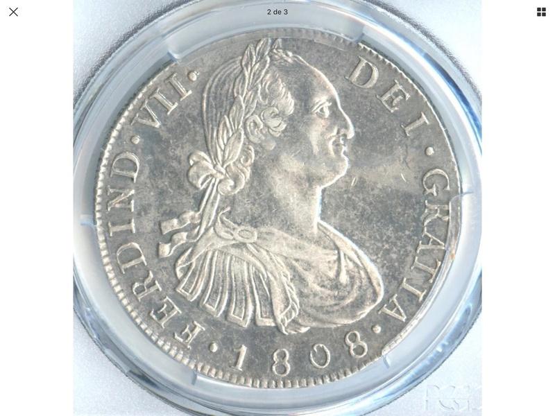 1808 Guatemala M . 8 reales Fernando VII E3af1610