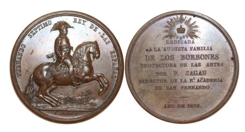 1825 Fernando VII a caballo F0038810