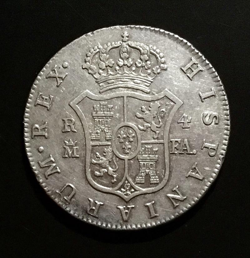 4 reales 1805 (sobre 796) FA Madrid Fc454c10