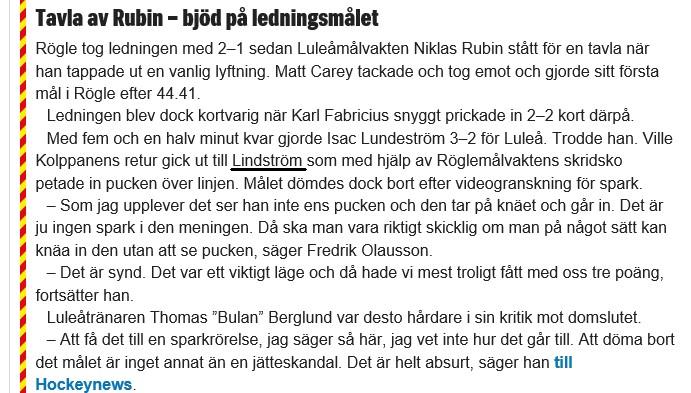 2019-01-26, SHL-match 36, Rögle - Luleå - Sida 4 Lunde10