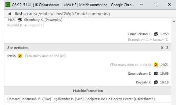 2020-09-26, SHL-match 2, Oskarshamn - Luleå - Sida 4 Namnlz12