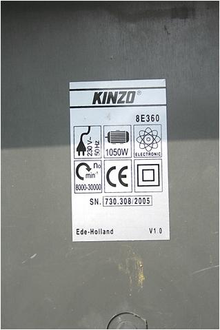 Notice toupie KINZO 8E360 Kinzo010