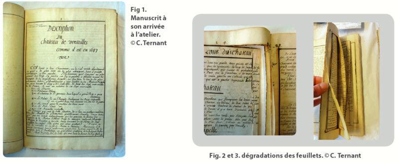 Une description manuscrite du château restaurée à la BnF Captur13