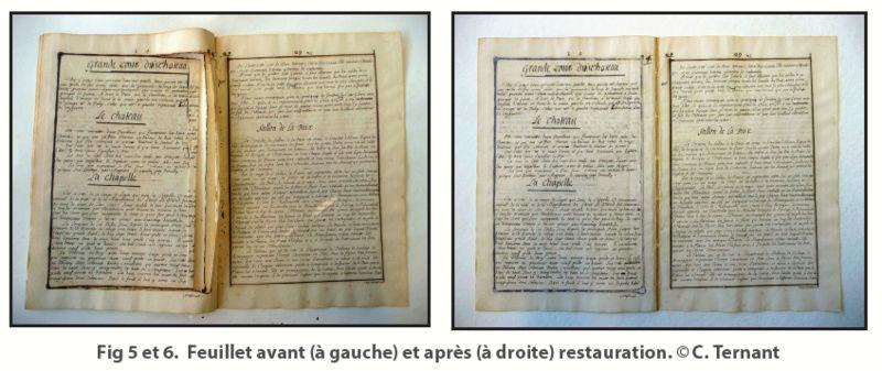 Une description manuscrite du château restaurée à la BnF Captur15