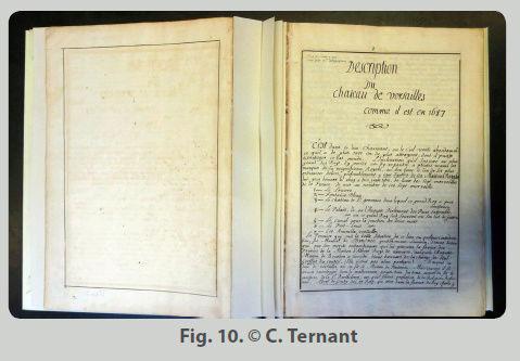 Une description manuscrite du château restaurée à la BnF Captur17