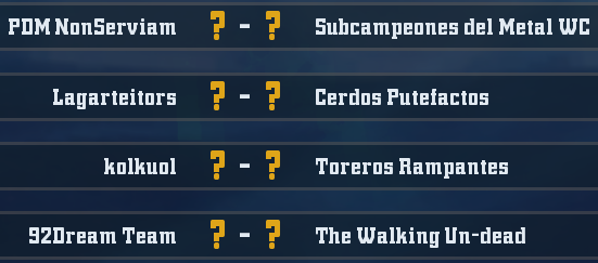 WC2018 - Grupo 5 / Jornada 2 - hasta el domingo 22 de abril Jornad12