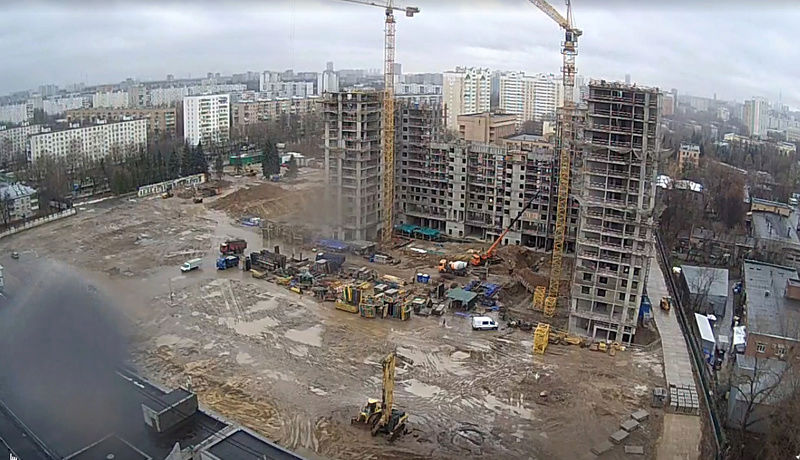 """Веб-камеры на площадке строительства ЖК """"Нормандия"""" Am54mz10"""