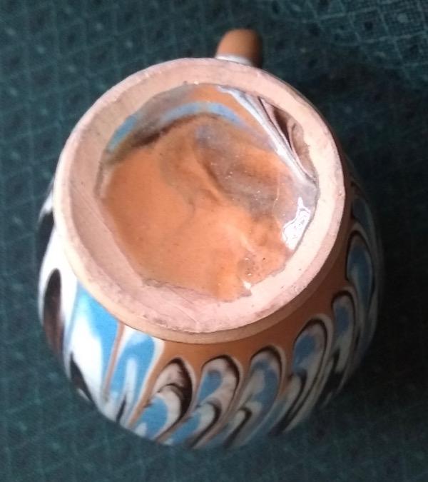 Mochaware Slip Marble Agate Pottery Jug Probably  Troyan, Romania  Img_2015