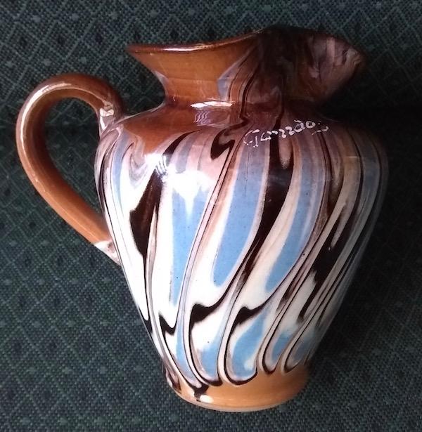 Mochaware Slip Marble Agate Pottery Jug Probably  Troyan, Romania  Img_2016