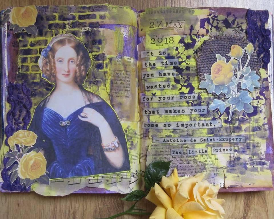 Vot provocare Art Journaling - Cinci elemente (Mihaela Deioni) Klaire10